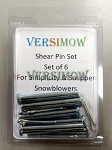 Six pack of shear pins for Snowblower (Replaces 605027)